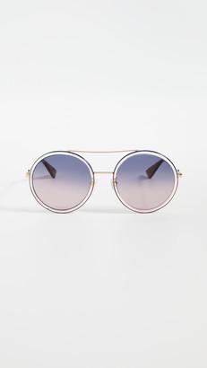 Gucci Urban Web Round Sunglasses