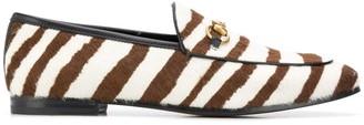 Gucci Jordaan zebra-stripe loafers