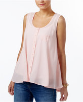 Style&Co. Style & Co Petite Button-Front Blouse, Only at Macy's