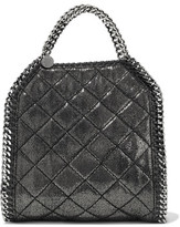 Stella McCartney Iridescent Quilted Faux Brushed-Leather Shoulder Bag