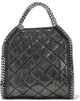 Stella McCartney Iridescent Quilted Faux Brushed-Leather Shoulder Bag