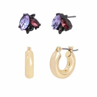 Jessica Simpson Stone Stud & Huggie Hoop Earrings Set