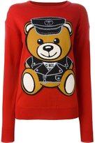 Moschino 'biker teddy bear' jumper - women - Virgin Wool - XS