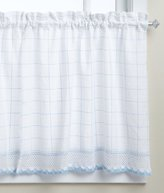 Lorraine Home Fashions Adirondack Tier Curtain Pair, 60 by 36-Inch, White/Blue