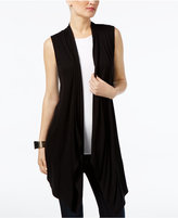 INC International Concepts Ribbed Open-Front Vest, Created for Macy's