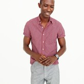 J.Crew Short-sleeve shirt in red check