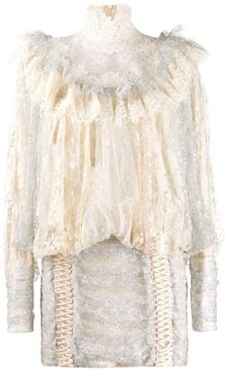 Zimmermann lace ruffled mini dress