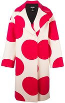 MSGM polka dots print coat - women - Polyamide/Viscose/Wool - 44