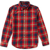 Ralph Lauren Big Boys 8-20 Plaid Twill Sportshirt