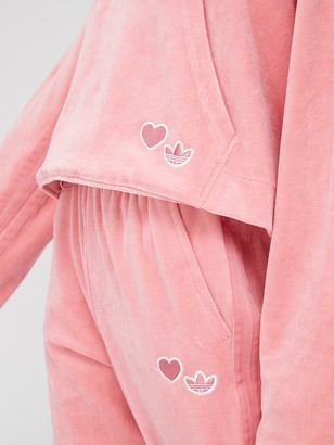 adidas Bellista Velour Hoodie - Pink