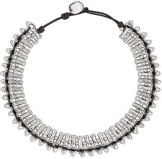 Uno de 50 Mandala Silver-Tone Beaded Cord Necklace