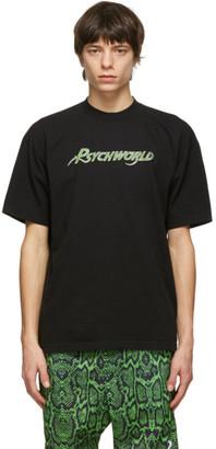 Psychworld Black and Green Snake Logo T-Shirt