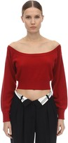 Alexander Wang Wide Round Neck Wool Sweater