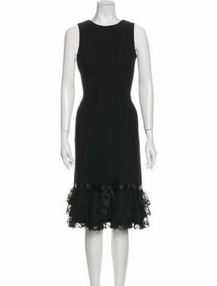 Oscar de la Renta 2006 Midi Length Dress Wool