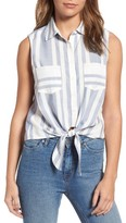 Cupcakes And Cashmere Women's Jaylee Stripe Sleeveless Blouse