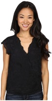 Lucky Brand Embroidered Cross Front Top