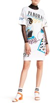 Love Moschino Short Sleeve Front Graphic Print T-Shirt Dress