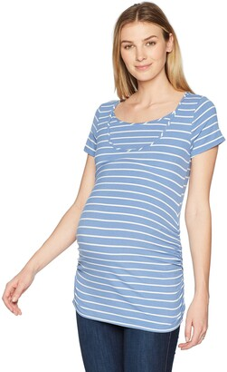 Maternal America Women's Maternity Short Sleeve Nursing Tee