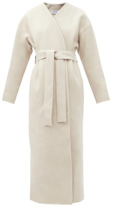 Harris Wharf London Double-breasted Belted Wool Coat - Cream