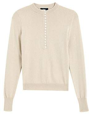 Theory Women's Cashmere Henley Placket