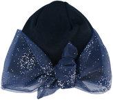 Federica Moretti glitter bow detail beanie