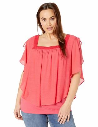 Amy Byer Women's Plus Size Fashion Popover Top