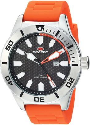 Seapro Men's Brigade Stainless Steel Quartz Silicone Strap Orange 21.85 Casual Watch (Model: SP1315)