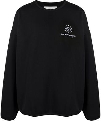 Societe Anonyme Logo Embroidered Oversized Sweatshirt