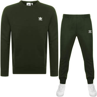adidas Essential Tracksuit Green