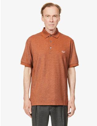 Ermenegildo Zegna Logo-embroidered cotton polo shirt