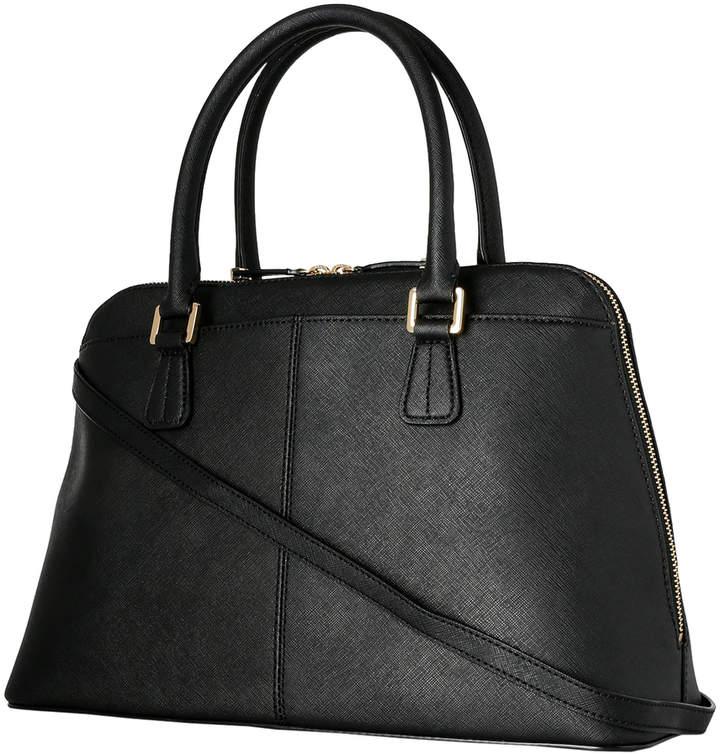 Calvin Klein H3GD11RP_BBLK On My Corner Saffiano Leather Satchel