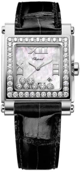 Chopard Happy Sport 278504-2001 Stainless Steel / Leather 27mm Womens Watch