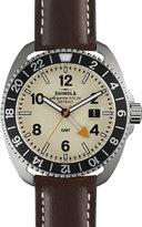 Shinola 44mm Rambler Tachymeter Watch w/ Leather Strap, Brown