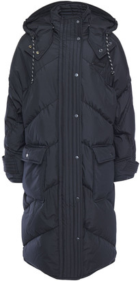 McQ Quilted Shell Down Hooded Coat