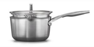 Calphalon Premier Stainless Steel 3.5-Qt. Saucepan with Pour & Strain Lid