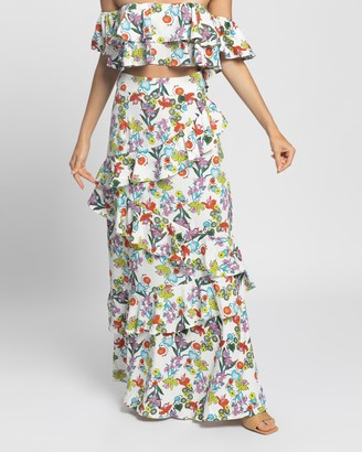 Glamorous Women's Multi Maxi skirts - Ruffled Maxi Skirt - Size 8 at The Iconic