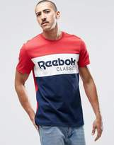 Reebok Archive Stripe Crew T-shirt In Red Ay1156