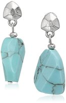 "Kenneth Cole New York Poolside Turquoise"" Semiprecious Turquoise Faceted Stone Drop Earrings"