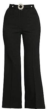 Miu Miu Women's Stretch Virgin Wool Crystal Trousers