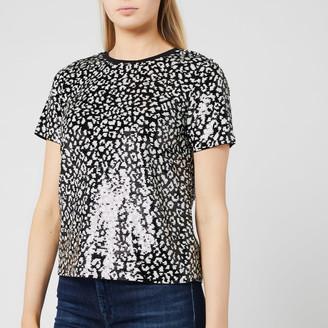 MICHAEL Michael Kors Women's Lux Cat Sequin Baby T-Shirt