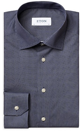Thumbnail for your product : Eton Slim-Fit Signature Polka Dot Dress Shirt