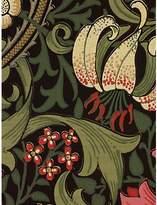 Sanderson Morris & Co Golden Lily, Charcoal / Olive, 210403