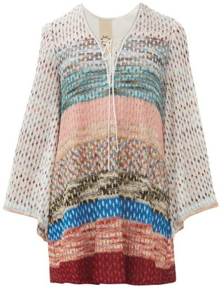 Missoni Mare - Metallic Knit Mini Dress - Womens - Multi