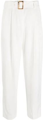 Pt01 High-Waisted Straight-Leg Trousers