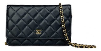 Chanel Wallet on Chain Black Leather Clutch bags