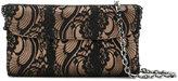 Casadei foldover lace clutch bag - women - Satin - One Size