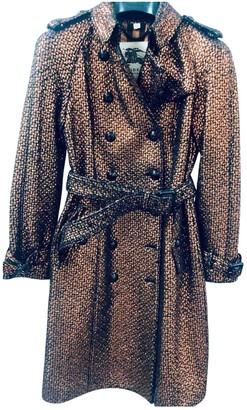 Burberry Gold Wool Trench coats