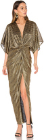Shona Joy Twist Kimono Maxi Dress in Metallic Gold. - size Aus 6/US XS (also in )