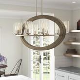 Laurèl Christenson 8-Light Kitchen Island Linear Pendant Foundry Modern Farmhouse