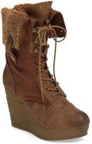 Sbicca Women's Brisa Mid Calf Platform Wedge Boot
